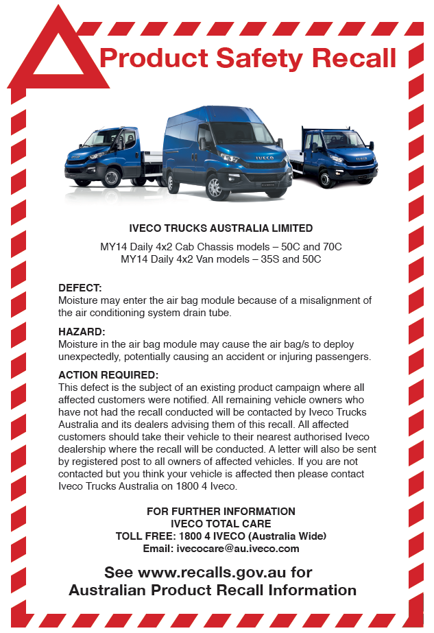 IVECO Product Safety Recall