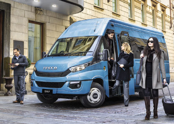 Iveco Minibus and Passengers