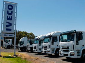 Iveco front banner trucks
